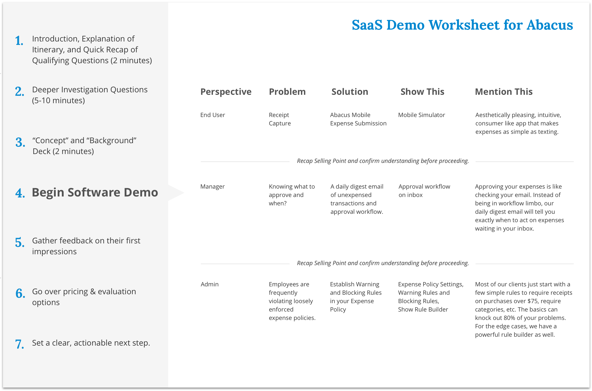 How to Create a Winning Worksheet for Your SaaS Demo – Abacus Worksheets